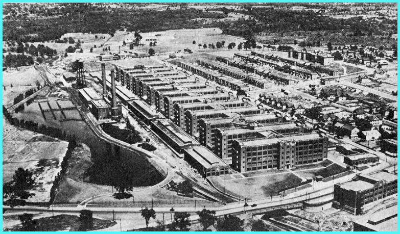 Arial view of GE's Bridgeport Works in 1931