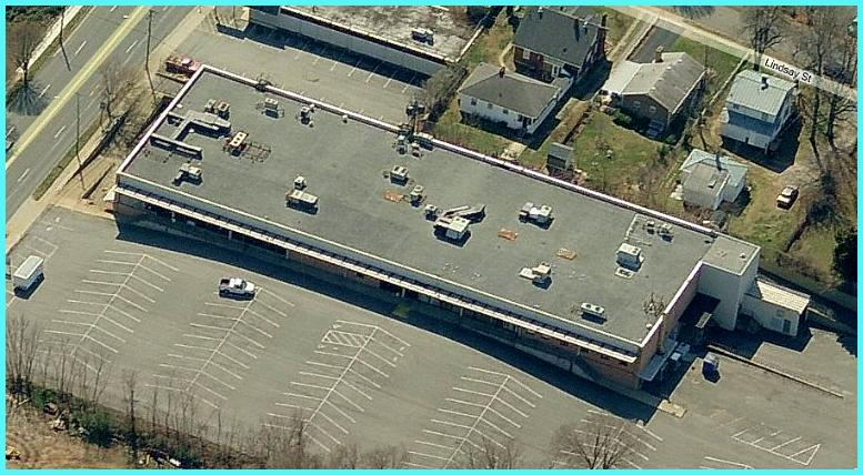Arial view of the Fort Avenue Building in Lynchburg, VA