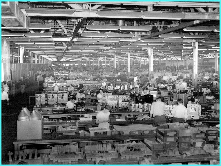 Inside view of GE Electronics Factory