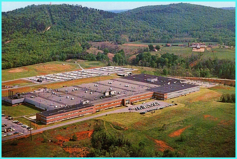 Arial view of GE's Lynchburg, VA Plant in the early 1960s